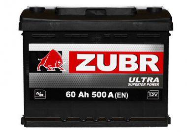 Фото - ZUBR 6СТ-60 500А ULTRA L+ ZUBR купить в Киеве и Украине