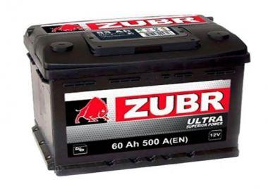 Фото - ZUBR 6СТ-60 500А ULTRA R+ ZUBR купить в Киеве и Украине