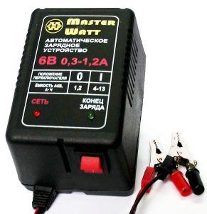Фото - Master Watt АЗУ 0.3-1.2А 6В мото Master Watt купить в Киеве и Украине